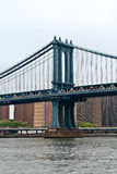 Manhattan bridge main structure, New York City Royalty Free Stock Images