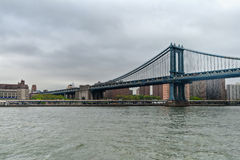 Manhattan bridge main structure, New York City Royalty Free Stock Image