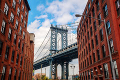Manhattan Bridge in Manhattan, New York City Royalty Free Stock Images