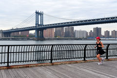 Manhattan Bridge in Manhattan New York Stock Images