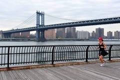 Manhattan Bridge in Manhattan New York Stock Images