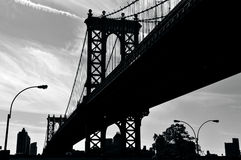 Manhattan Bridge in Manhattan New York Royalty Free Stock Photos
