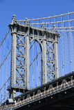 Manhattan Bridge and Manhattan Skyline Stock Photos