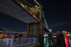 Manhattan Bridge meeting the Brooklyn Bridge stock image