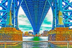 Manhattan bridge. New York bring HDR. Long explanation royalty free stock photo