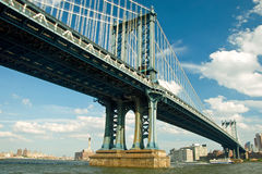 Manhattan bridge in New York City Royalty Free Stock Photo