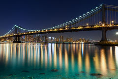Manhattan Bridge, New York City. Stock Photos