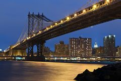 Manhattan Bridge, New York City. Royalty Free Stock Photos
