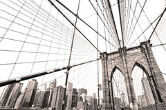 Manhattan bridge, New York City. Royalty Free Stock Photo