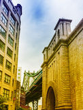The Manhattan Bridge, New York City Stock Photo