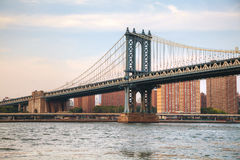 Manhattan bridge in New York City Stock Images