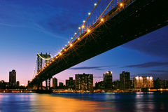 Manhattan bridge - New York city skyline Stock Images