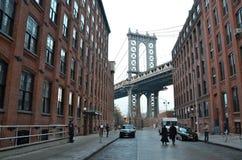 Manhattan Bridge, New York City, USA. Stock Images