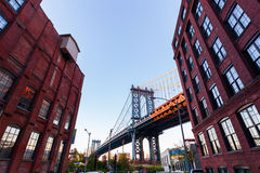 Manhattan Bridge in New York City Royalty Free Stock Photography