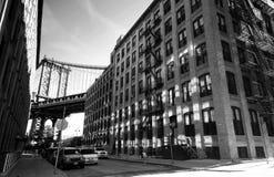 Manhattan Bridge, New York stock photo