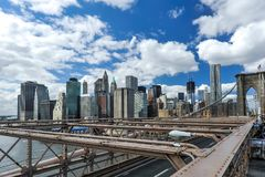 Manhattan Bridge in New York royalty free stock photography