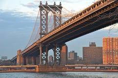 Manhattan Bridge, New York, USA. Manhattan Bridge from Brooklyn, New York, USA Stock Photo