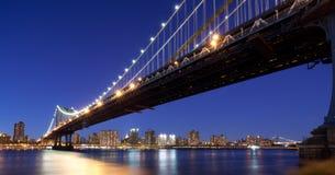 Manhattan Bridge at night. Manhattan Bridge in New York City at night Royalty Free Stock Photography