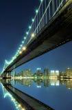 Manhattan Bridge At Night, New York City stock photography