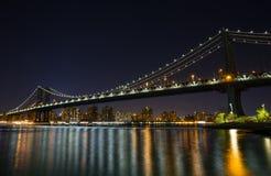 Manhattan Bridge At Night Royalty Free Stock Image
