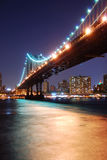 Manhattan Bridge over Hudson River Stock Photos