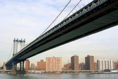 Manhattan Bridge and Skyline Royalty Free Stock Image