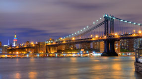 Manhattan Bridge Skyline Royalty Free Stock Photography