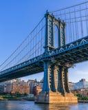 Manhattan Bridge during Sunset stock image