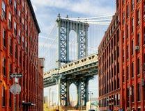 Manhattan Bridge at Sunset, New York, USA Royalty Free Stock Photos