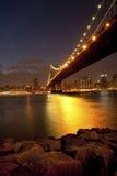 Manhattan Bridge in twilight Stock Photography
