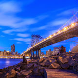 Manhattan bridge at twilight Royalty Free Stock Photography