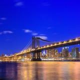 Manhattan bridge at twilight Royalty Free Stock Image