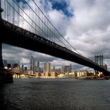 Manhattan Bridge. View of the Manhattan Bridge from Brooklyn Royalty Free Stock Photo