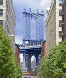 Manhattan Bridge view from Brooklyn, New York Stock Image