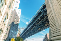 Manhattan Bridge view from Brooklyn, New York City Royalty Free Stock Photography