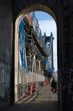 Manhattan Bridge Walkway Royalty Free Stock Images