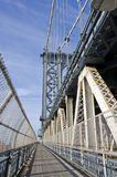 Manhattan Bridge Walkway Stock Photo