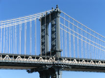 Manhattan Bridge Western Tower Royalty Free Stock Photo