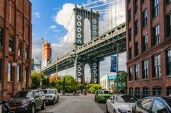 Manhattan bro i Brooklyn, New York, USA royaltyfri bild