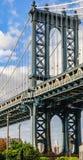 Manhattan bro i Brooklyn, New York, USA royaltyfri foto