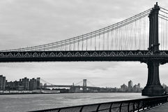 Manhattan bro i New York City Royaltyfri Foto