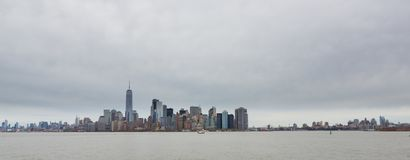 Manhattan and Bronyx Skyline Stock Image