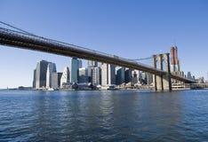 Manhattan and Brooklyn Bridge. Manhattan, New York Skyline and brooklyn bridge Royalty Free Stock Photos