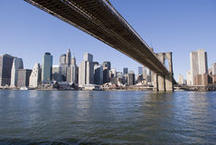 Manhattan and Brooklyn Bridge Royalty Free Stock Image