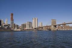 Manhattan and Brooklyn Bridge. Manhattan, New York Skyline and brooklyn bridge Stock Photography