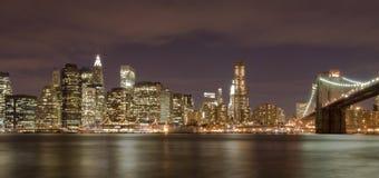 Manhattan and Brooklyn Bridge. Manhattan, New York Skyline and brooklyn bridge Royalty Free Stock Photo