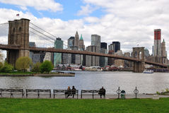 Manhattan and Brooklyn Bridge Stock Images
