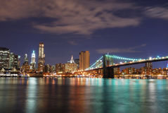 Manhattan Brooklyn Bridge in New York City Royalty Free Stock Photo