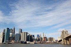 Manhattan and Brooklyn Bridge, New York Royalty Free Stock Photos