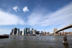 Manhattan and Brooklyn Bridge, New York Stock Image